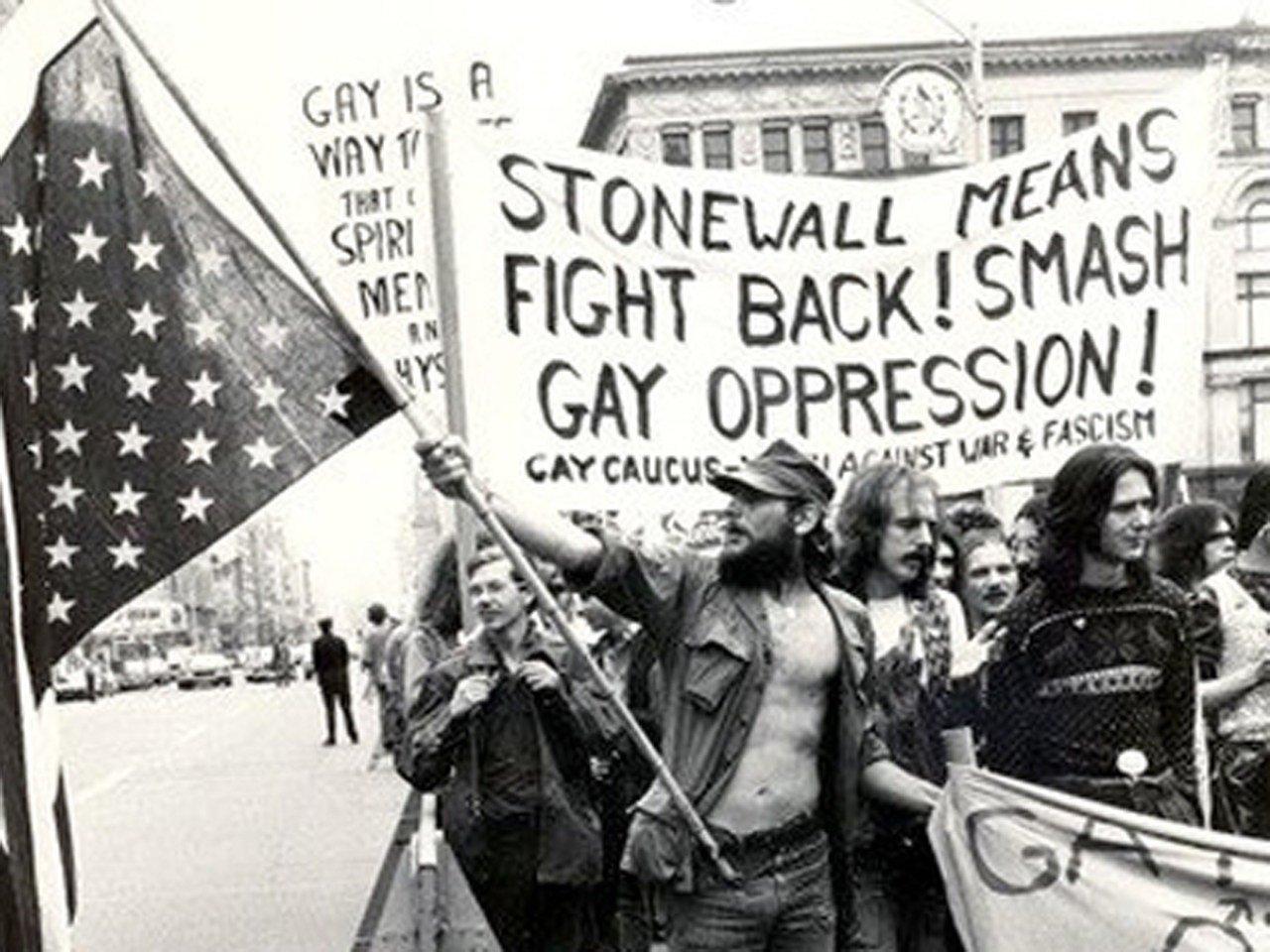 Una imagen de los disturbios de Stonewall Inn para reclamar los derechos del colectivo LGTB en 1969